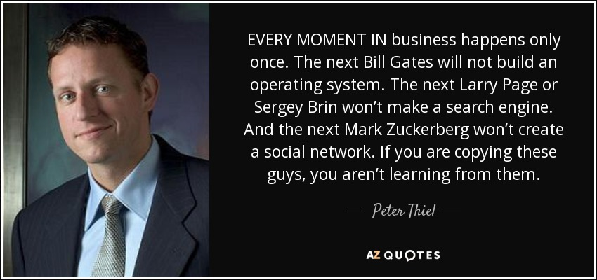 Peter Thiel quote